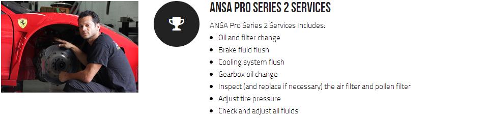 Ansa Pro Series 2 Services