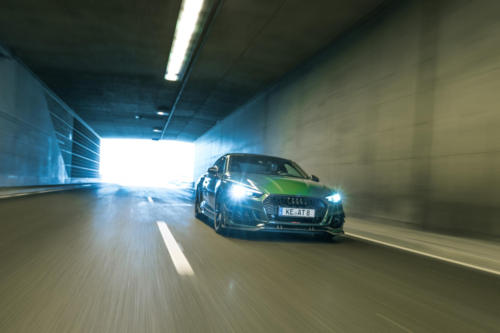 ABT RS5R 3 4 front sonomagreen rolling tunnel