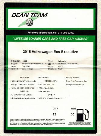 Used 2015 Volkswagen Eos Executive Edition SULEV | Miami, FL n60