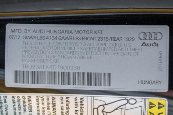 Used 2013 Audi TT RS 2.5 quattro | Miami, FL n54
